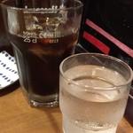55062759 - アイスコーヒー + 水