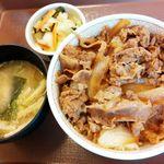 すき家 - 牛丼おしんこセット並盛 470円 2016/08