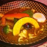 SOUP CURRY&HAMBURG 龍祈(TATSUKI) - チキン 海老味噌 辛さ14番