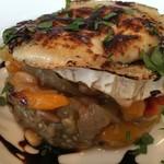 55065233 - グリル野菜のマリネと山羊の焼きチーズ