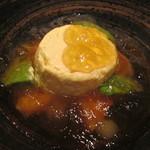 55065763 - 焼きトウモロコシのムース サーモン アボガド コンソメのジュレ