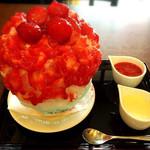 カフェ かんた - カキ氷(いちごミルク)