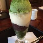 ぎをん 小森 - 抹茶ババロアパフェ