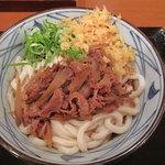 丸亀製麺 - 肉ごぼうぶっかけ