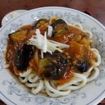藤迺谷 - 料理写真:冷やし麻婆茄子うどん
