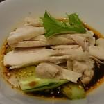 55070671 - 花山椒ピリ辛蒸し鶏
