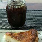 tsuki cafe  - クリームチーズパイとアイスコーヒー