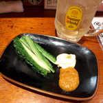 55074305 - 自家製カレーみそ・ゴーヤ(¥400)。ゴーヤは茹でたてで、あったかい