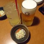 55076994 - ビールと柚子ソーダ