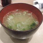 神田江戸ッ子寿司 - セットのお味噌汁