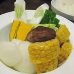 55083437 - 野菜焼き。結構なボリューム。