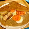 ボングーテ - 料理写真:グリルチキンとトマトのガレット