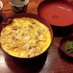 55090575 - 三昧親子丼と例の緑の漬物(16-08)