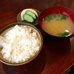かつ政 - H28.08.07 ご飯&お味噌汁