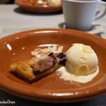 55096095 - デザート「フィグの自家製タルトとバニラアイス」