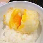 天ぷらめし 天之助 - 半熟玉子天をご飯にのせて
