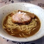 麺工 小烏丸 - イベリコ煮干そば(気まぐれ限定)