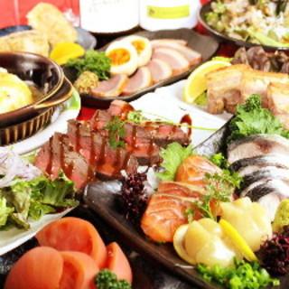 燻製料理が盛り込まれた宴会コース!!