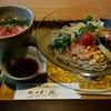 音市楼 かくれ庵 - 料理写真:『12品目のサラダ蕎麦&ミニまぐろ丼』 h28.8.22撮影
