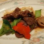 花梨 - 牛肉のオイスターソース炒め