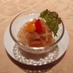 花梨 - クラゲと野菜の和え物