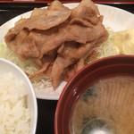 昭和食堂 - ジャンジャン焼定食。