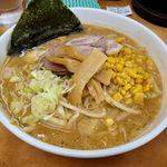 北海道ラーメン 赤レンガ - 赤レンガ(味噌ラーメン800円+コーン100円)