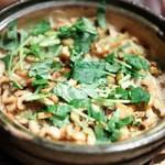 帰燕 - 食事 穴子とごぼうの炊き込みご飯