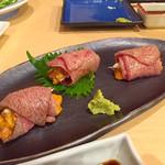 55107256 - 雲丹の牛肉巻き