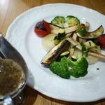 イオンヤ - 温野菜をソースで…(バーニャカウダソース)