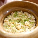 豪龍久保 - 毛蟹の炊き込みご飯