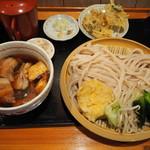 満月うどん - 肉汁うどん730円+大盛り100円+かき揚げ100円