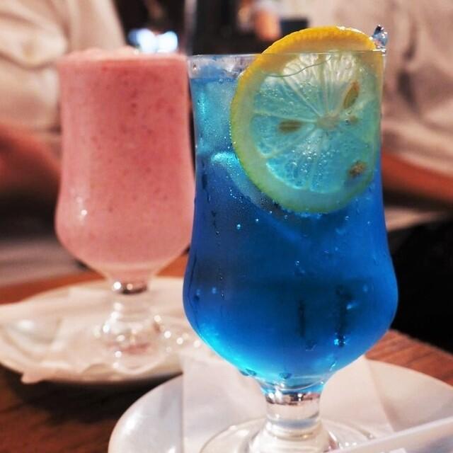 さぼうる - 生いちごジュースとソーダ水