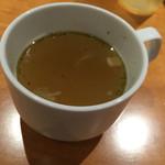 ハマバーグ - 野菜スープ