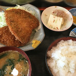 小料理 筑波 - アジフライとメンチカツ定食
