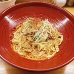 金蠍 - 汁なし金胡麻担担麺(780円)