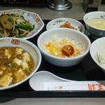 餃子の王将 - ごはんセットでジャストサイズ2品(ミニレバニラ炒め・ミニ麻婆豆腐)
