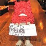 グッド&バッド タイムス - お店のマスコットです。お一人でも気軽にお越しください。