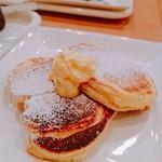 カフェ・ド・ドルチェ - パンケーキ  プレーン  ドリンクセット     ¥680