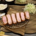 55138897 - サーロインカツ定食