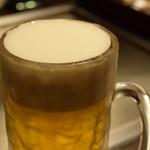 神戸六甲道・ぎゅんた - 生ビール