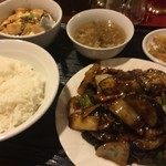 東方園 - 料理写真:ナスの味噌煮定食