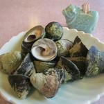大衆磯料理 磯辺 - シッタカ貝の塩茹で(^^)くるくる〜っと出します‼︎