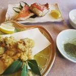 大衆磯料理 磯辺 - サザエの天麩羅‼︎お刺身と煮た時の間の食感(^^)
