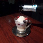 バール ボガ - シャンパンアフォガード(850円)