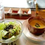 羽衣びーふ亭 - サラダ&スープ〜(^ー.^)ノ