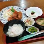 雅露夢 - 料理写真:「ランチ から揚げ定食 (500円)」