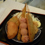 55148910 - 野菜串カツ盛り、700円