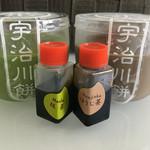 宇治川餅 - 抹茶プリン(¥190)・ほうじ茶プリン(¥190)