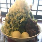 55150025 - 特 緑茶氷 練乳がけ(¥630)